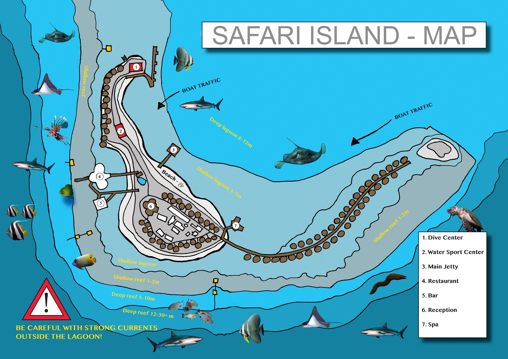 Safari Island Map